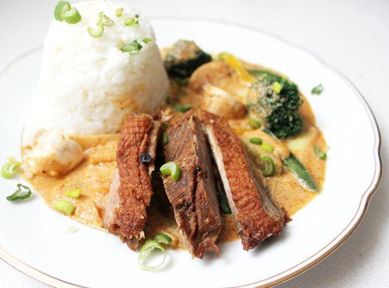 Thaicurry mit knuspriger Ente