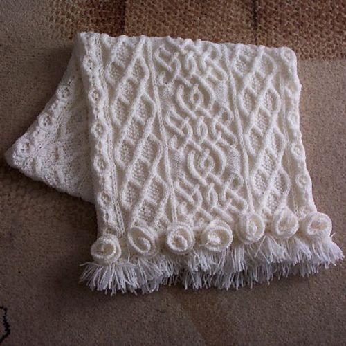 Celtic Shawl with Roses pattern by Devorgillas Knitting (sometimes...) ...