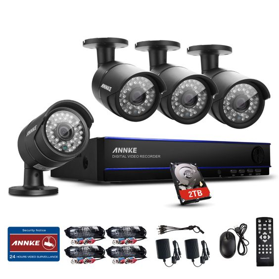 $379.99 (Buy here: http://appdeal.ru/dnmy ) ANNKE 8CH HD 2MP 1080P DVR 2TB HDD Night Vision CCTV Home Security Camera System for just $379.99