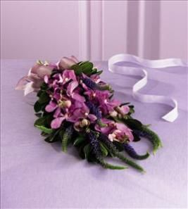 The FTD® Veronica™ Orchid Bouquet by US Teleflorist .com- Associated with other USA Teleflorists