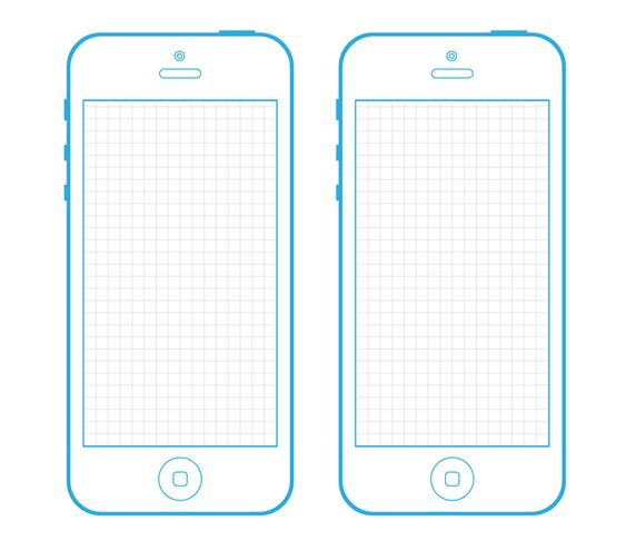 Wireframe, iPhone 5s and Templates