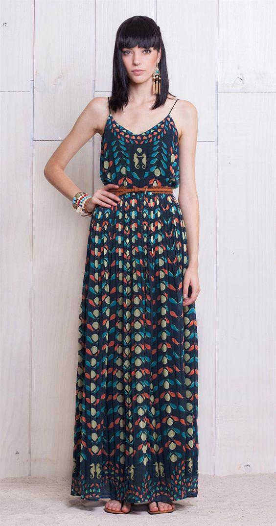 Vestido Peixes e Conchas   Lookbook   Antix Store: