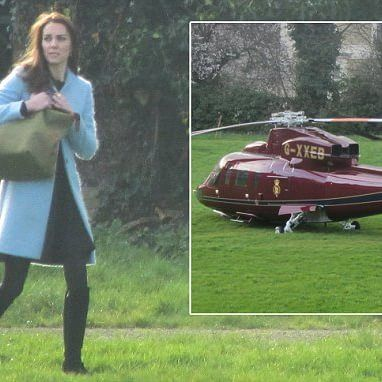 Duchess of Cambridge prepares to board helicopter for £3,000 flight