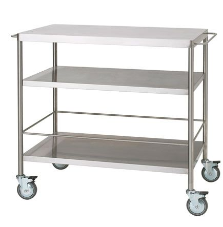Stainless Steel Table On Wheels For More Counter Space