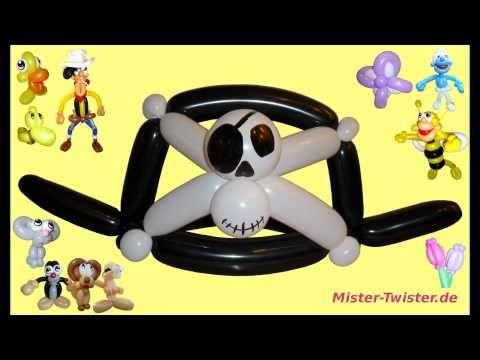 Ballon einfacher Piratenhut, balloon simple pirate hat, Modellierballon Ballonfiguren Caribbean - YouTube