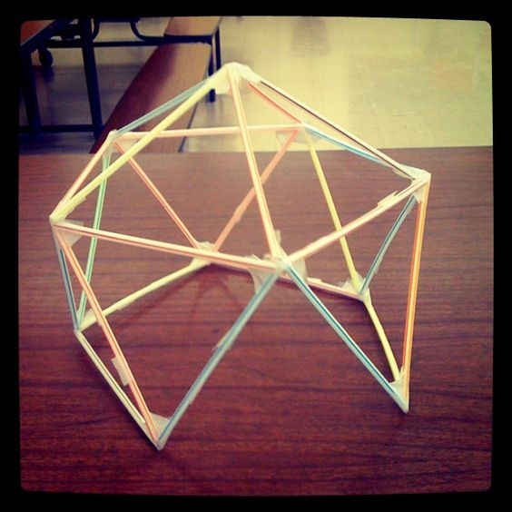 beginning of geodesic dome drawing lesson, teacher sample! I'll take pics of the students soon!