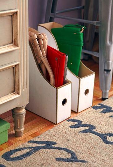 Una idea para organizar tus bolsos de mano