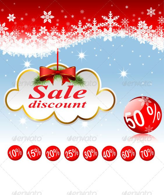 Clouds and Christmas Balls.   #GraphicRiver         Illustration of clouds and Christmas balls. Sale, discounts. Set. Zip file contains fully editable vector file eps10. Scalable: to any size without quality loss. Vector objects separated and grouped. I recommend a vector editing in Adobe Illustrator from a CS and above. The layers can easily be edited in Adobe Photoshop as Smart Objects.                     Created: 25 November 13                    Graphics Files Included:   Vector EPS…