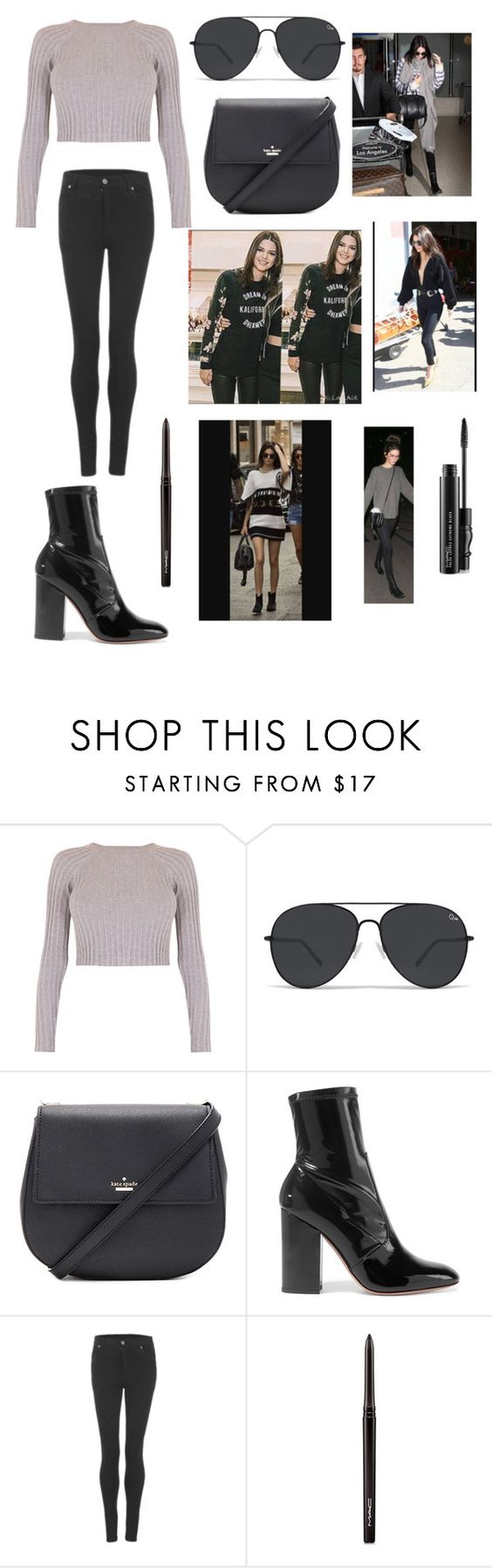 """Asegkñpfgnloyyu"" by nicoleoj ❤ liked on Polyvore featuring For Love & Lemons, Kate Spade, Valentino, Cheap Monday and MAC Cosmetics"
