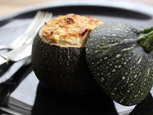Courgettes farcies thon et moutarde - Recette de cuisine Marmiton : une recette