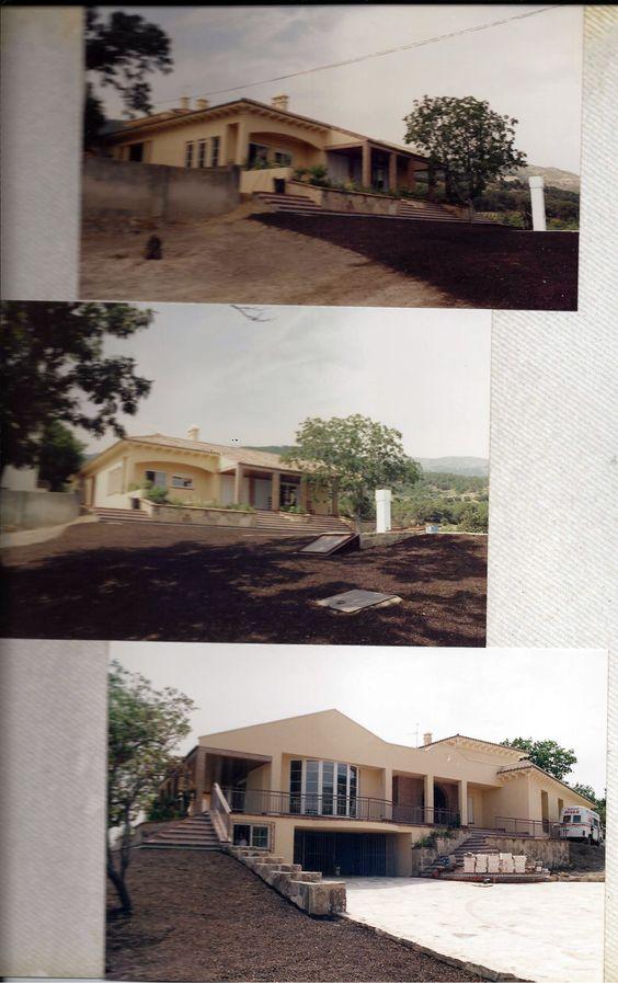 Casas #contemporaneo #recibidor #exterior #escalera #puertas ...