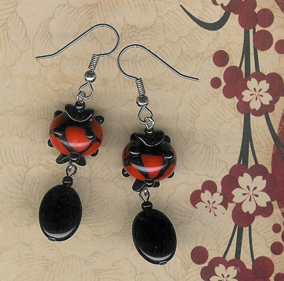 50% Off Clearance Sale-Playful and Funky Black by myjuliejewels, $5.50