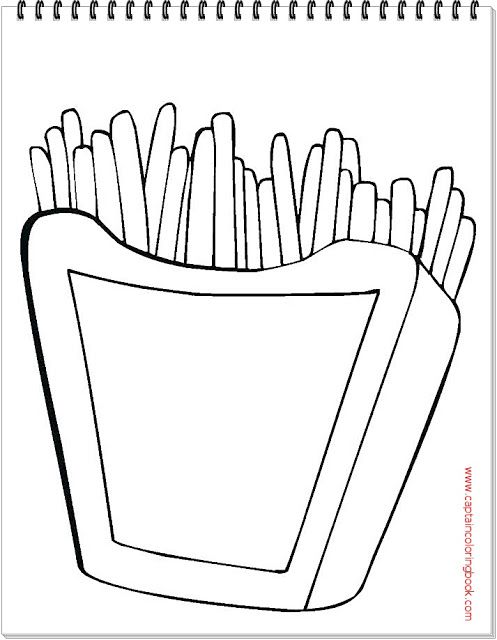 French Fries Character Coloring Page Coloring Page Coloring Pages Owl Coloring Pages French Fries