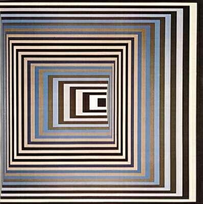 Blue Black, Victor Vasarely                                                                                                                                                     Plus