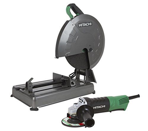 Hitachi Kcc14s2f 14 Chop Saw 4 1 2 Paddle Switch Grinder Combo Kit In 2020 Combo Kit Hitachi Chop Saw