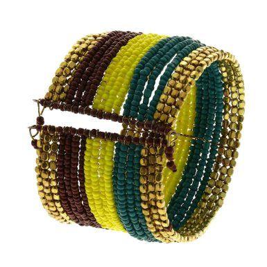 Colorful Cuff Bracelet Beaded Bangle Indian Jewelry Fashion: Shalincraft: Amazon.co.uk: Jewellery