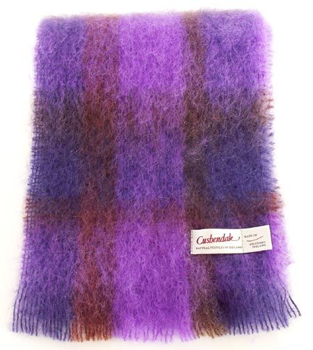 Plum Brushed Mohair