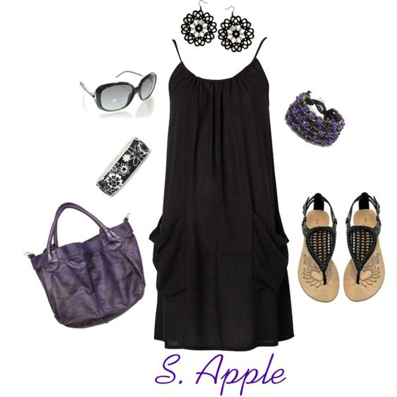 """Black Summer Dress"" by sapple324 on Polyvore"