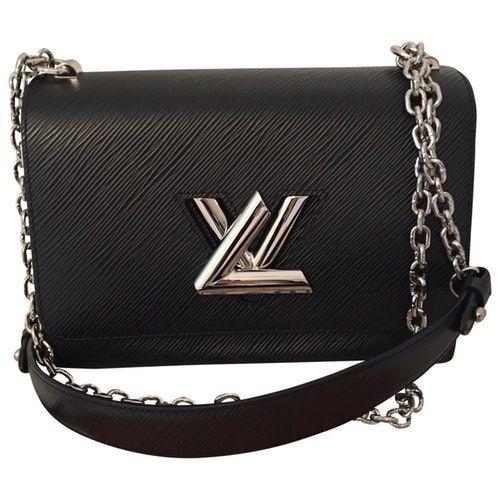 Twist Black Leather Handbag Black Leather Handbags Louis Vuitton Leather Handbags