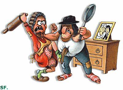 """""""Na briga de marido e mulher, não se mete a colher"""". Até porque, não faz sentido duas pessoas estarem brigando, você chegar no meio e por uma colher.."""