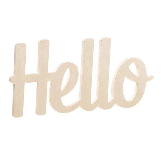Darice Unfinished Wooden Hello In 2020 Hello Word Darice Word Art
