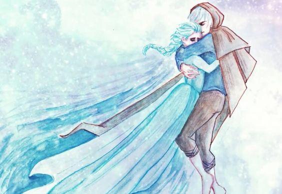 Jelsa Elsa(Frozen/Disney) and Jack Frost(Rise Of The Guardians/DreamWorks)