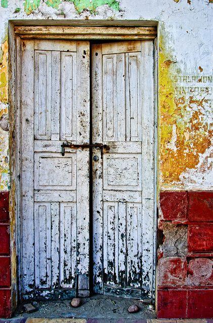 wonderful old doors. El Fuerte, Mexico