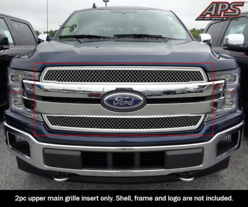 Details About Fits 2018 2020 Ford F 150 Xl Xlt Lariat Bar Style Stainless Mesh Grille Ford F150 Bar Styling Ford
