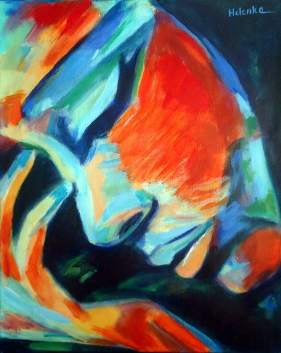 "Saatchi Art Artist Helena Wierzbicki; Painting, ""Reflections†#art"