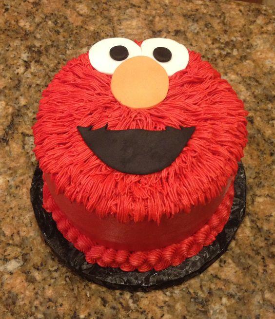 Elmo smash cake!