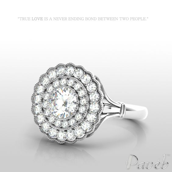 let the breathtaking brilliance of this dazzling ring take you over