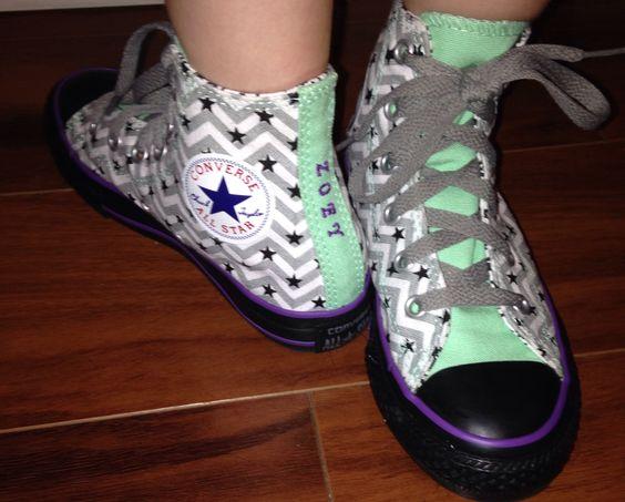 Zoey's custom designed Converse