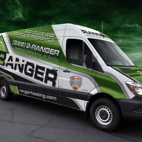 Elegant Van Wrap For Heating And Cooling Company Car Truck Or