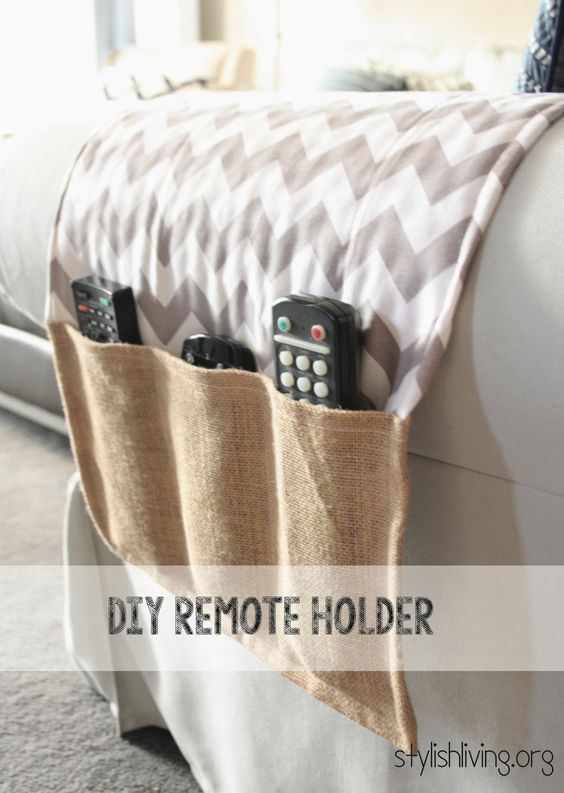 "DIY Remote Holder - so my husband will stop being irritated whenever ""I"" misplace the remotes."