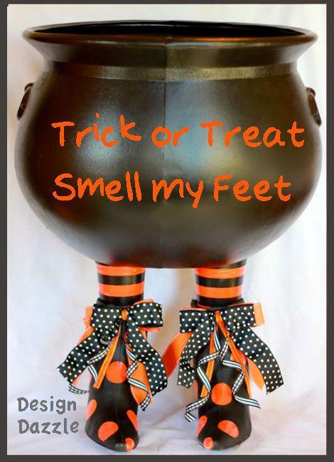 Boot-i-licious Halloween decor