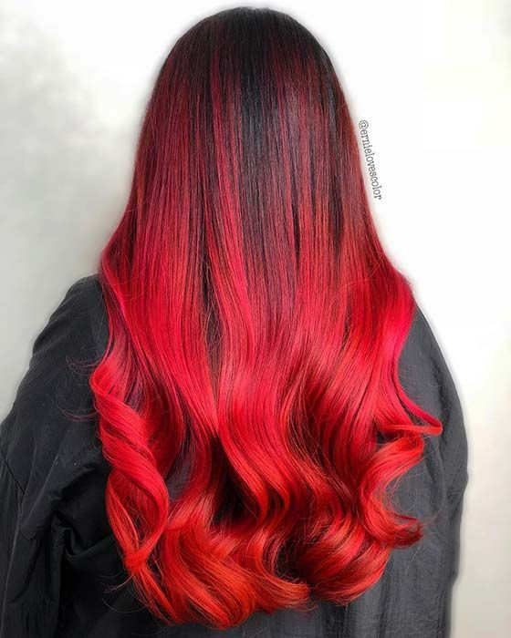 23 Red And Black Hair Color Ideas For Bold Women Stayglam Hair Color For Black Hair Hair Styles Long Hair Styles