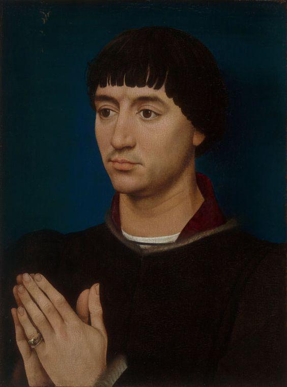 Rogier van der Weyden and Workshop Netherlandish, c. 1399–1464 Portrait of Jean Gros, 1460/64