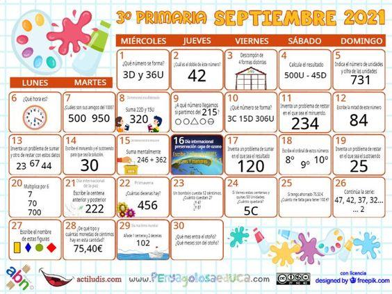 Calendario Tercero ABN – Septiembre 2021