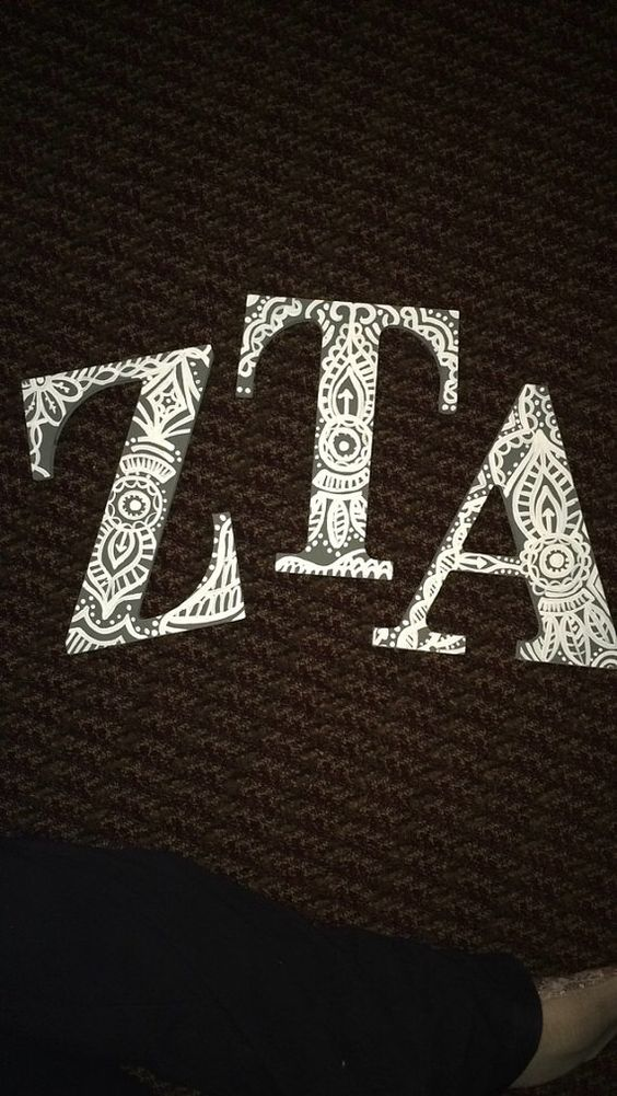 Sorority letters. Made to order however you by AllThingsSorority