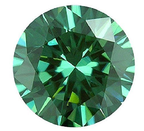 8 MM Loose Moissanite Off White Blue Round Diamond Lab Created Use For Jewelry