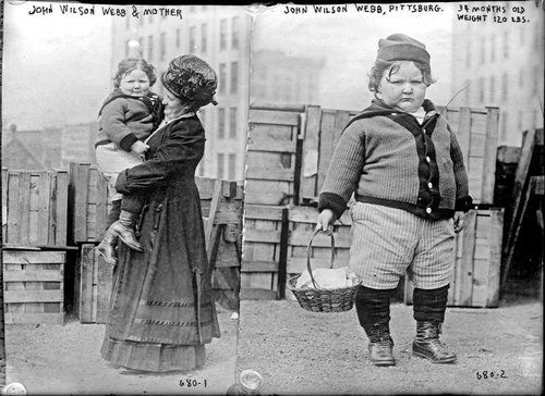 John Wilson Webb Tronfio di abbondanti libazioni Il bambino più grasso del 1890 60 chili a 3 anni  FOLTO