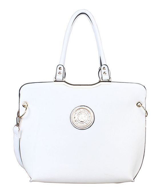 Look at this AR New York White Medallion Convertible Tote on #zulily today!