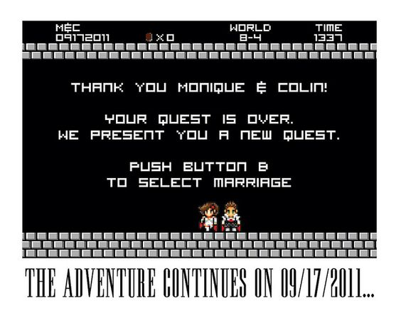 Geeky Save the Date of awesomeness!   by delightdisorder