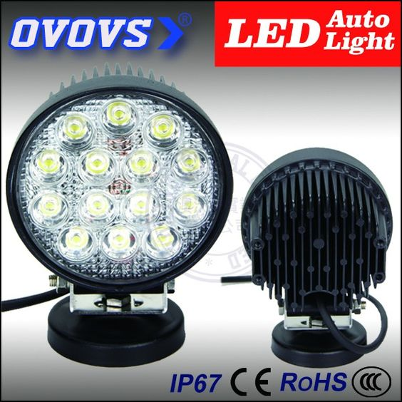 """Check out this product on Alibaba.com App:Super bright IP67 4.5"""" 10-30v 42w auto led work light for 4x4 accessories https://m.alibaba.com/JFRJ3e"""