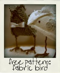 Fabric birds: Bird Patterns, Free Pattern, Fabric Birdie, Wedding Cake, Fabric Birds, Felted Birds Tutorial, Diy Birdie