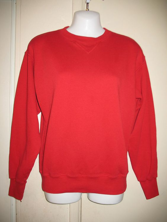 Nordstrom Active Sports Vintage Womens Red Long Sleeve