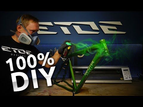 Etoe Youtube Bike Spray Can Bike Frame