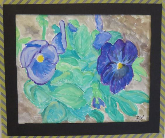 Purple Pansies - water colors.