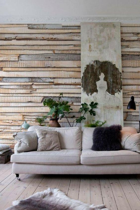papier peint photo imitation planches de bois