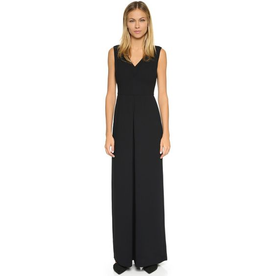 Vince Double V Jumpsuit ($450) ❤ liked on Polyvore featuring ...
